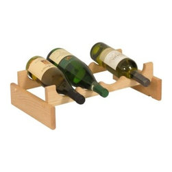 Dakota 4 Bottle Wine Rack - The perfect spot for your favorite wines and craft brews, the Dakota 4 Bottle Wine Rack is constructed of solid, red oak hardwood in your choice of finish. This four-bottle storage rack is also available unfinished for a rustic look or custom stain. Designed for versatility, it can be easily reconfigured and expanded for a countertop, floor display, or custom cellar. Each piece in the Dakota Wine Rack collection is finished with a protective UV coating and constructed of furniture-quality wood sourced from sustainable North America forests. These hardy shelves are easy to assemble and crafted in the USA.About Wooden MalletFor over 20 years, Wooden Mallet has been turning Northern Red Oak into beautiful and functional American-made wood products for commercial and residential settings. Wooden Mallet manufactures and distributes various styles of magazine and brochure display racks, chart holders, luggage racks, coat and hat racks, and reception chairs and tables crafted from solid oak sides and components. In addition to a technological manufacturing process, Wooden Mallet also employs a unique finishing process using ultraviolet light to cure the finish into the wood for a more durable, lasting finish. This process meets the emission standards set by the Environment Protection Agency. For the past 10 years, Wooden Mallet has ranked consistently in the top 100 of the Wood & Wood Products, Wood 100 Annual Report for Solid Wood and Panel Technology.