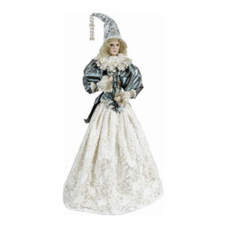 Winward Designs - Tiffany Cone Angel - A divine angel figurine that is needed to complete your holiday decorations this year! Perfect for a white christmas celebration! Made of resin (head & hands) and premium fabrics.
