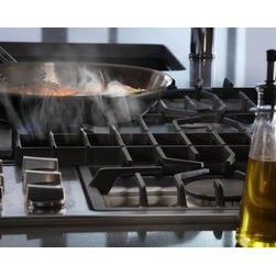 """Jenn-Air® Ventilation Options - The Jenn-Air® 36"""" Gas Downdraft cooktop features a powerful ventilation system that captures smoke and cooking odors right at the cooking surface, to clear the air without a hood."""