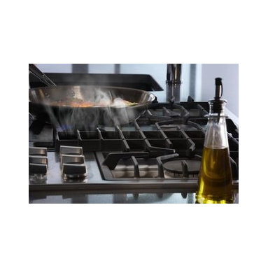 "Jenn-Air® Ventilation Options - The Jenn-Air® 36"" Gas Downdraft cooktop features a powerful ventilation system that captures smoke and cooking odors right at the cooking surface, to clear the air without a hood."