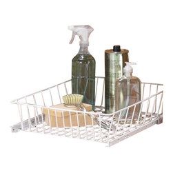 KV Kitchen & Bath Storage - Pull-Out System/Multi-Use Baskets in White - Pull-Out System/Multi-Use Baskets. Metal Component Finish-White. 15.2 in. W x 19.2 in. D x 9.3 in. H