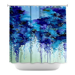 DiaNoche Designs - Shower Curtain Artistic - Cloudy Day II - DiaNoche Designs works with artists from around the world to bring unique, artistic products to decorate all aspects of your home.  Our designer Shower Curtains will be the talk of every guest to visit your bathroom!  Our Shower Curtains have Sewn reinforced holes for curtain rings, Shower Curtain Rings Not Included.  Dye Sublimation printing adheres the ink to the material for long life and durability. Machine Wash upon arrival for maximum softness. Made in USA.  Shower Curtain Rings Not Included.