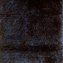 Loloi Rugs - Loloi Rugs Danso Black Shag Rug X-670500LB40-ADSNAD - Chic safari animal prints are reinterpreted into ultra soft faux fur rugs in the Danso Collection. Made in China of 100% poly-acrylic, Danso's rich solids or cheetah, zebra, and tiger patterns are available in trend right colors that set these rugs ahead of the pack.