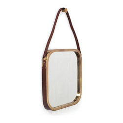 Elks Lodge Mirror - Like a side view mirror facing forward, this mid-century inspired beauty looks tactful suspended from a room that loves woods and metals. Fashioned of pure stainless steel, this mirror is surely built to last and gleam for many years to come.