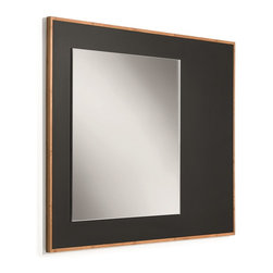 WS BathCollections - Luni 81144 Mirror with Bamboo Frame and Blackboard Magnetic Surface - Luni by WS Bath Collections, Bamboo Bathroom Vanity Unit with Blackboard Magnetic Surface