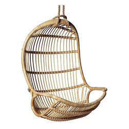 Serena & Lily - Hanging Rattan Chair - The ultimate summer seat is a swinging one, of course. It's fun and relaxation wrapped up in one pretty seat. I want this in a bad way. It's perfection for either indoors or out.