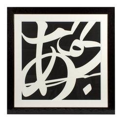 Print - Print Vlado Fieri II - Black wood frame and glass