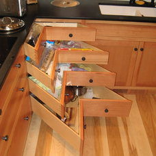 Traditional Cabinet And Drawer Organizers by S & S Custom Cabinets Inc