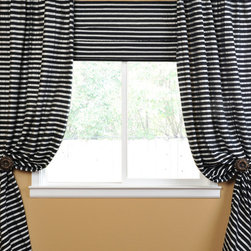 Black And Silver Casual Cotton Curtain - The Hand Weaved Cotton curtains & drapes add a casual and warm look to any window. These drapes are tailored from the finest hand loomed cotton blend