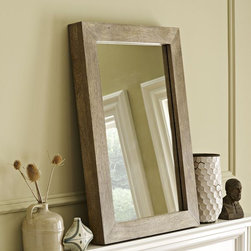Parsons Wall Mirror, Natural Solid Wood - A mirror in your dining room might seem a bit invasive — who wants to see their reflection as they eat, right? But mirrors are a great way to open up the space and give it the illusion that it's much larger. I like this reclaimed wood mirror from West Elm because it can fit into any design scheme easily.