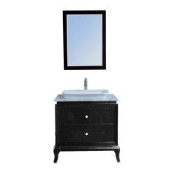 "Stufurhome - 32"" Lamont Single Sink Vanity with Carrera Marble Top - Splendid in both style and function, the 32"" Lamont Single Sink Vanity with Carrera Marble Top is understated yet elegant. The vanity. Dimensions: 32 in. x 23 in."