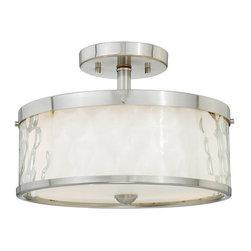 Vaxcel Lighting - Vaxcel Lighting C0046 Vilo 2 Light Semi-Flush Ceiling Fixture - Features: