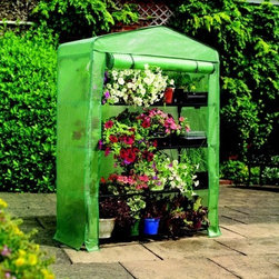 Gardman USA - 4-Tier Growhouse Greenhouse - 4-Tier Mini Greenhouse -Extra Wide