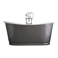 "The Newminster 68 "" Long Cast Iron Bathtub Package from Penhaglion"