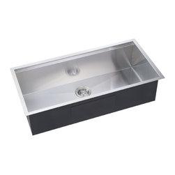 """Lenova - Lenova Ss-Le-38 Big Single Bowl Ledge Sink 38"""" Stainless Steel - Lenova SS-LE-38 Ledge Single Bowl Kitchen Sink."""
