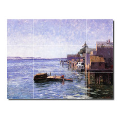 Picture-Tiles, LLC - Puget Sound Tile Mural By Theodore Steele - * MURAL SIZE: 12.75x17 inch tile mural using (12) 4.25x4.25 ceramic tiles-satin finish.