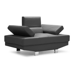 ZUO MODERN - Blazer Arm Chair Black - The Blazer is the ultimate modern living piece.  It has adjustable arms and headrests with a full bonded leather body.