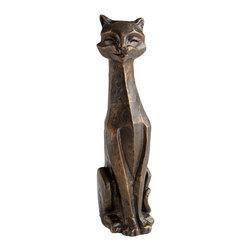 Cyan Design - Eris Funny Cat Sculpture - Eris funny cat sculpture - bronze.