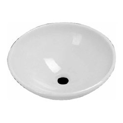 Renovators Supply - Vessel Sinks White Milk Glass Tempered Round Vessel Sink | 16062 - Glass Vessel Sinks: Single Layer Tempered glass sinks are five times stronger than glass, 1/2 inch thick, withstand up to 350 F degrees, can resist moderate to high degrees of impact and are stain-proof. Ready to install this package includes FREE 100% solid brass chrome-plated pop-up drain, FREE machined 100% solid brass chrome-plated mounting ring and silicone gasket. Measures 16 1/2 inch diameter x 4 3/8 inch deep x 1/2 inch thick.