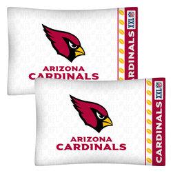 Store51 LLC - NFL Arizona Cardinals Football Set of 2 Logo Pillowcases - Features: