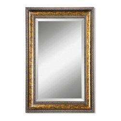Joshua Marshal - Bronze Leaf Sinatra Beveled Mirror - Bronze Leaf Sinatra Beveled Mirror