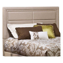 Hillsdale - Hillsdale Kiki Ivory Linen Headboard with Bed Frame-Queen - Hillsdale - Beds - 1118HQR - Designed for maximum style and comfort the KiKi Bed features a headboard covered in plush stone-hued linen and bed frame. The headboard features classic double piping outlining tufted rectangular sections. The neutral tone compliments almost any decor while the impressively large headboard stands out against even the most plush bedding.  The KiKi Bed is available in queen and king size.