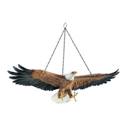 Design Toscano - Design Toscano Flight of Freedom Hanging Eagle Sculpture Multicolor - DB43027 - Shop for Sculptures Statues and Figurines from Hayneedle.com! About Design Toscano:Design Toscano is the country's premier source for statues and other historical and antique replicas which are available through the company's catalog and website. Design Toscano's founders Michael and Marilyn Stopka created Design Toscano in 1990. While on a trip to Paris the Stopkas first saw the marvelous carvings of gargoyles and water spouts at the Notre Dame Cathedral. Inspired by the beauty and mystery of these pieces they decided to introduce the world of medieval gargoyles to America in 1993. On a later trip to Albi France the Stopkas had the pleasure of being exposed to the world of Jacquard tapestries that they added quickly to the growing catalog. Since then the company's product line has grown to include Egyptian Medieval and other period pieces that are now among the current favorites of Design Toscano customers along with an extensive collection of garden fountains statuary authentic canvas replicas of oil painting masterpieces and other antique art reproductions. At Design Toscano attention to detail is important. Travel directly to the source for all historical replicas ensures brilliant design.