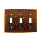 Premier Copper Products - Copper Switchplate Triple Toggle Switch Cover - Dimensions: 6.5 in. x 4.5 in.