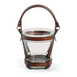 Go Home - Wesley Wine Cooler - Wesley Wine Cooler is sophisticated and perfect for entertaining. It would also make a great gift for him. This product is finished with equestrian brown leather strapping and brass.