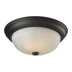 Z-Lite - Z-Lite Athena Ceiling Light X-2F3112 - This two light Ceiling Light fixture is comprised of an elegant bronze finish and paired with white swirl glass shade. Along with its simple detailing, this fixture makes a chic addition to any room.