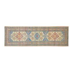 1800GetARug - Tribal Design Kazak Runner Hand Knotted Rug Sh11749 - About Tribal & Geometric