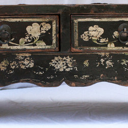 Chinese Painted Lady's Lacquer Low Table - Chinese Painted Lady's Lacquer Low Table