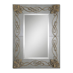 Uttermost - Dolianova Antique Mirror - You will never go wrong with the right mirror. And this is it. Beautiful and timeless design, expert craftsmanship and a stand-alone quality, this mirror belongs in your formal dining room or above the mantel in your living room.
