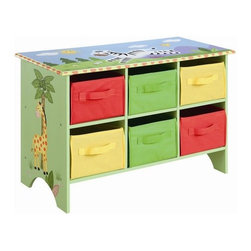 Teamson Kids - Sunny Safari Storage Cubby Base Set - The storage cubby base set is a perfect addition to the popular Sunny Safari collection. It comes with multi-colored canvas drawers, which is a lighter material, thus making it easier for your child to organize his toys, books and gear. Features: -Storage cubby base set. -Hand painted and hand carved. -Sturdy and high quality. -Decorative as well as functional. -Distressed finish. -Assembly required.