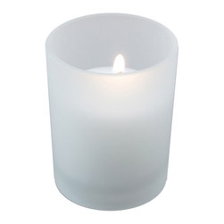 LumaBase Luminarias - 12 Frosted Glass Candle Holders with 72- 15 Hour Votive Candles - Votive candles are perfect for any occasion or event. They are compression molded with lead free wicks for a clean and smokeless burn. These simple candles and glass holders will add a touch of elegance to your special event.