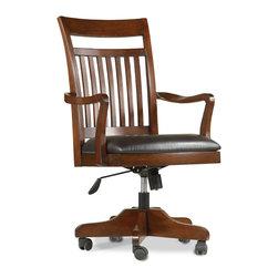 Hooker Furniture - Hooker Furniture Wendover Tilt Swivel Chair 1037-31220 - Light Physical Distressing Finish