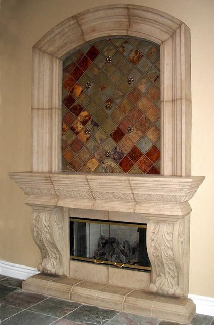 Traditional Indoor Fireplaces by Realm of Design