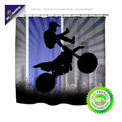 Motocross Shower Curtain -