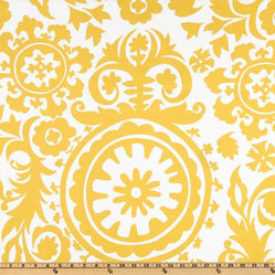 Premier Prints Suzani Slub, Yellow/White
