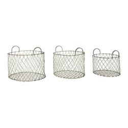 Aidan Gray - Aidan Gray 3 Piece Banbury Baskets Set G147 SET - Aidan Gray 3 Piece Banbury Baskets Set G147 SET