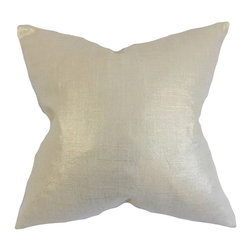 The Pillow Collection - Florin Solid Pillow, Antique Gold - This toss pillow is the easiest way to add elegance to your living space.