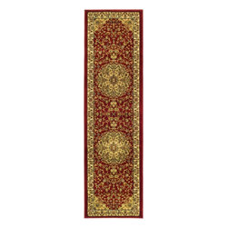 "Safavieh - Traditional Lyndhurst Hallway Runner 2'3""x6' Runner Red - Ivory Area Rug - The Lyndhurst area rug Collection offers an affordable assortment of Traditional stylings. Lyndhurst features a blend of natural Red - Ivory color. Machine Made of Polypropylene the Lyndhurst Collection is an intriguing compliment to any decor."