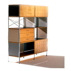 "Charles & Ray Eames - Herman Miller Eames Storage Unit, 4 x 2 - Herman Miller Eames Storage Unit, 4 x 2  designed by Charles and Ray Eames      At A Glance:   The Eames Storage Unit is true to the inventive originals introduced in 1950. Designed as both storage place and display cabinet, it is a striking example of how Charles and Ray Eames extended the boundaries of design to create a new modern aesthetic for the office and home. Long before ""modularity"" and ""high-tech"" entered the design lexicon, Charles and Ray Eames were using industrial production techniques to provide ample storage, work, and display space. Available in Vibrant or Neutral color schemes.      What's To Like:   Variety! Storage cabinets are commonly boring as all get out, just straight lines and monochromatic laminate. The Eames Storage Unit melts those constraints away with formed plywood cabinet doors, visible-grain drawer fronts, hardwood sides, color panels, crossed wire, a"