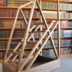 Rolling Library Ladder - This is the most amazing library ladder ever!