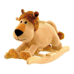 Charm - Leonard Lion Rocking Animal with Sound Multicolor - 82238 - Shop for Rocking Toys from Hayneedle.com! One of the most luxurious plush rockers available the Leonard Lion Rocking Animal with sound is what happy childhood memories are made of. Child safety tested and approved it features a sturdy hardwood base and wooden grip bars to ensure your child's well-being and comfort. This friendly lion roars when its head is pressed and comes with a hidden on/off switch that lets parents control the sound. Leonard Lion is surface washable and comes clean with mild soap and warm water. Recommended ages 3-6 years. Required 2-AA batteries not included for sound. About Charm Co.Charm Company is the nation's leader in battery powered and motion toys. Their standards of quality in terms of safety and performance are second to none and its special relationship with its customers proves it. The high-end catalog and department store toy market has consistently made Charm Company a success and now their themed products can be seen in hotels theme parks and gift shops all over the nation.