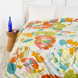 Watercolor Floral Duvet Cover - Watercolor and florals make a great combination. I think this would be a great cover to add to a girls' room or a guest room.
