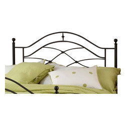 Hillsdale Furniture - Hillsdale Cole Panel Headboard with Rails - Full/Queen - A traditional silhouette is enhanced by unique and whimsical accents in Hillsdale Furniture's Cole bed. Classic ball finials are accentuated by sweeping scrollwork and intricate castings. The black twinkle finish offers a great base, intensifying your decor and color scheme. All of these wonderful details culminate with the sturdy steel construction. Some assembly required.