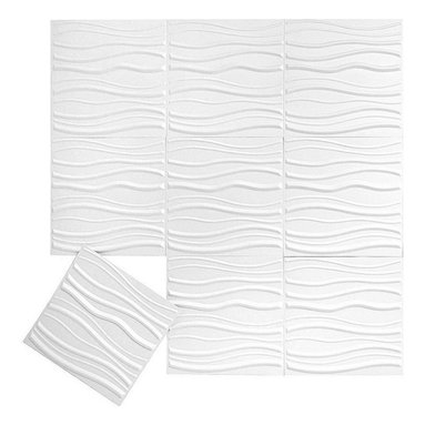 Inhabit - Inhabit Tierra Wall Flats Set of 10 - Forgo outdated room separators like drywall and folding screens and install these lightweight dimensional wall tiles, creating sculptural walls anywhere you want them in your home. This wall option is both chic and functional, and you'll love the three dimensional waving pattern. Each panel is molded from bagasse, a renewable resource, making this an easy, ecofriendly choice for your home.