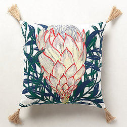 Anthropologie - Lampang Pillow, Pink - Inspiration to roast artichokes is always needed, especially when it's on a pillow that I'd usually rest my arm on while eating potato chips!