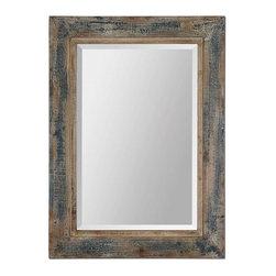 Uttermost - Uttermost Bozeman Distressed Blue Mirror - 13829 - Uttermost Bozeman Distressed Blue Mirror - 13829